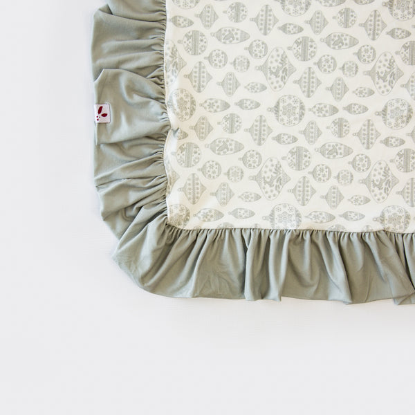 Dreamer Blanket - Vintage Ornaments Sage - Final Sale