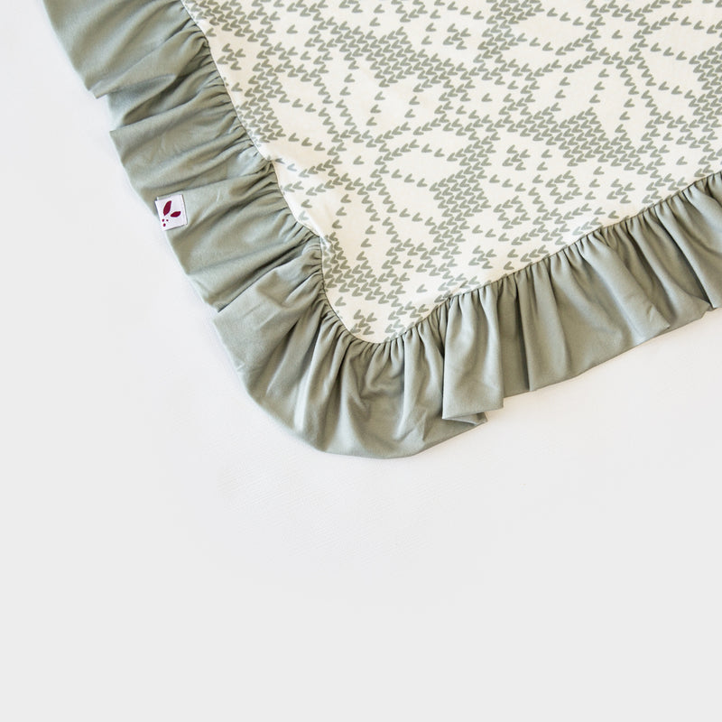 Dreamer Blanket - Sweater Snowflake Sage - Final Sale