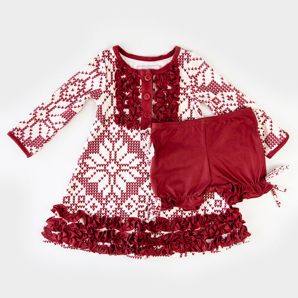 Dreamer Gown - Sweater Snowflake Scarlet - Final Sale