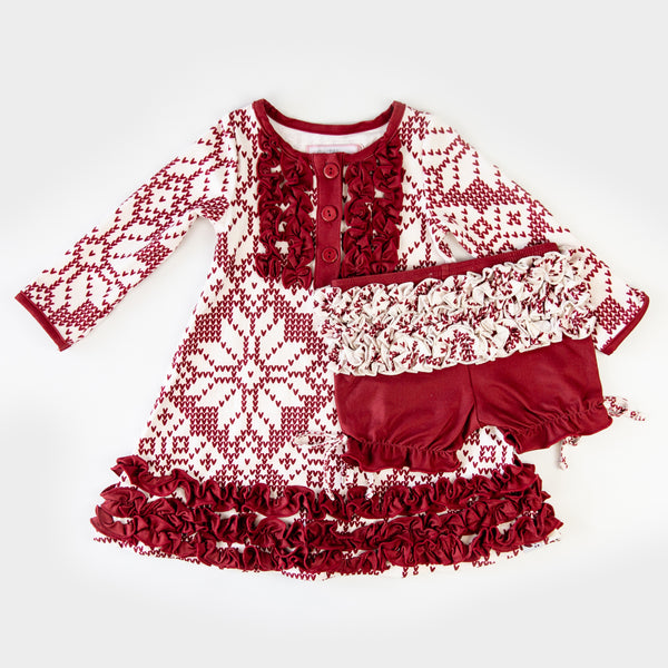 Dreamer Gown - Sweater Snowflake Scarlet