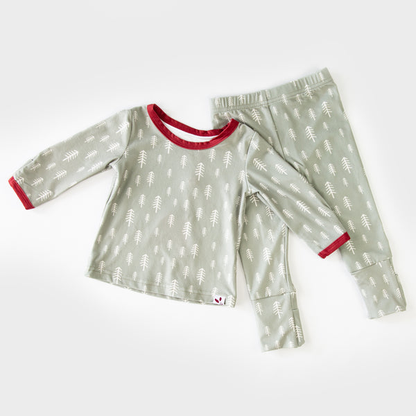 Dreamer Toddler 2-Piece - Sage Trees - Final Sale