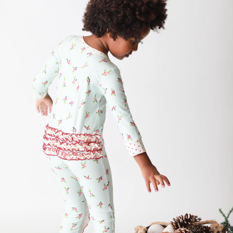 Dreamer PJs - Ruffled Blue Holly