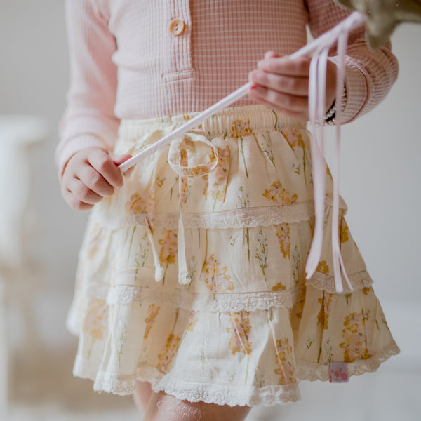 Tiered Skirt - Peachy Blooms