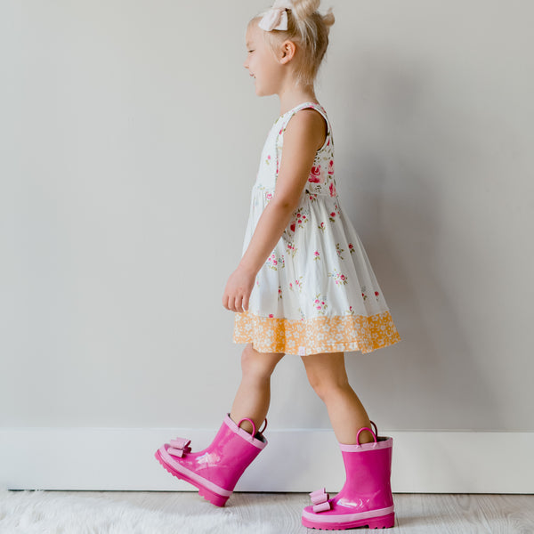 Cheery Rain Boot - Bright Pink