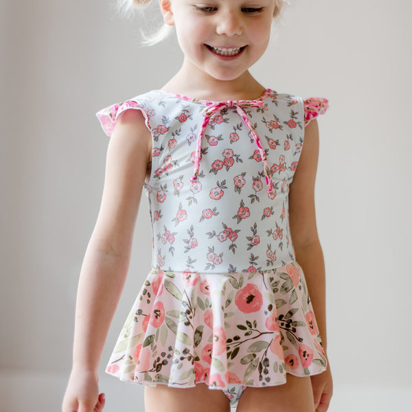 Skirted Leotard - Dainty Floral