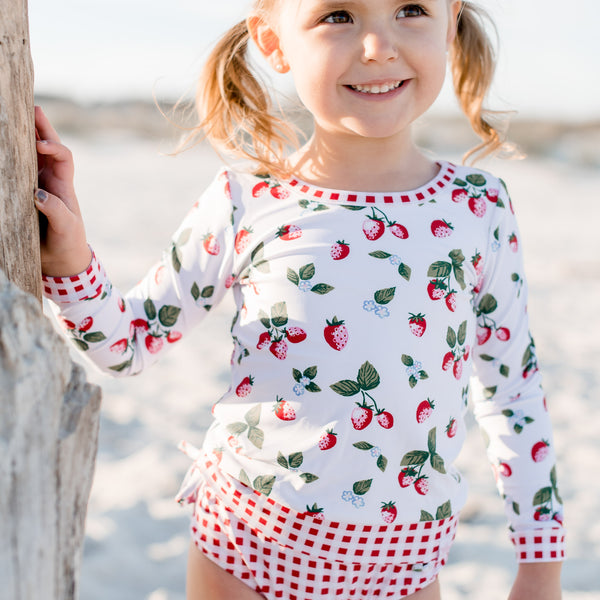 Micah Rash Guard - Sweet Strawberry