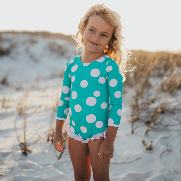 Solid Rash Guard - Sand Dollar