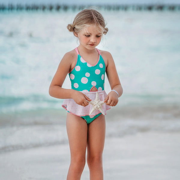 Morgan Skirted One Piece - Sand Dollar