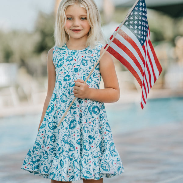 Flair Dress - American Floral