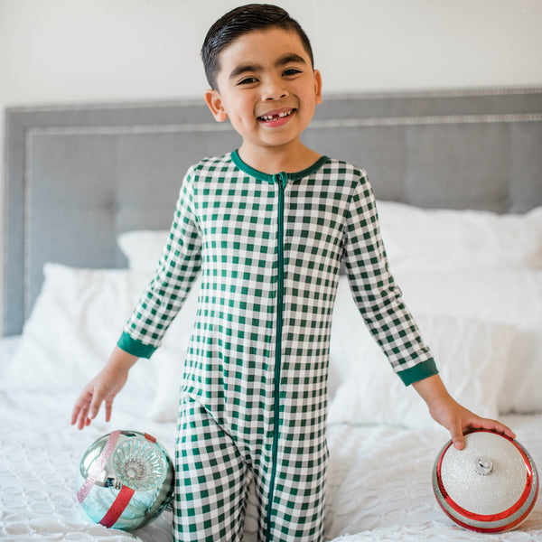 Dreamer PJs - Simply Green Check