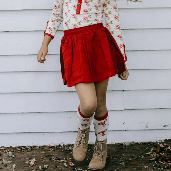 SweetHoney - Garden Skirt - Rose Red - Final Sale