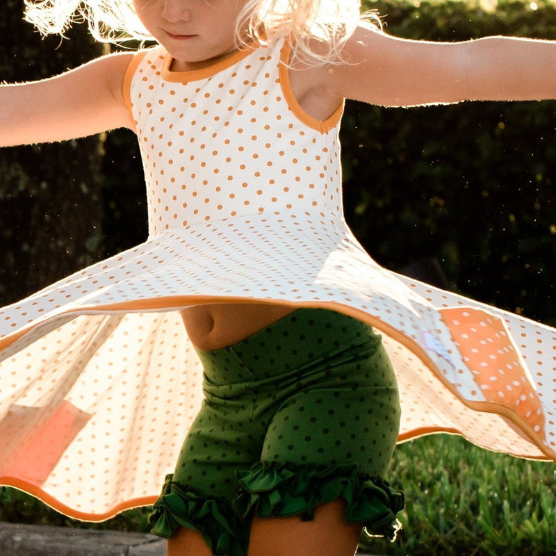 SweetHoney - Game Day Shorties - Go Green Dotty