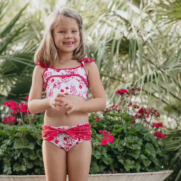 Retro Tankini - Red Floral