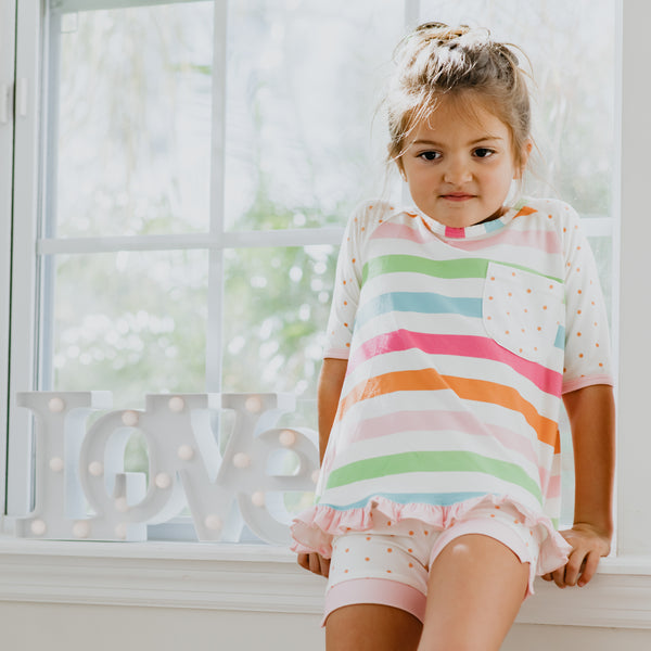 Dreamer Shortie Set - Cheery Stripe