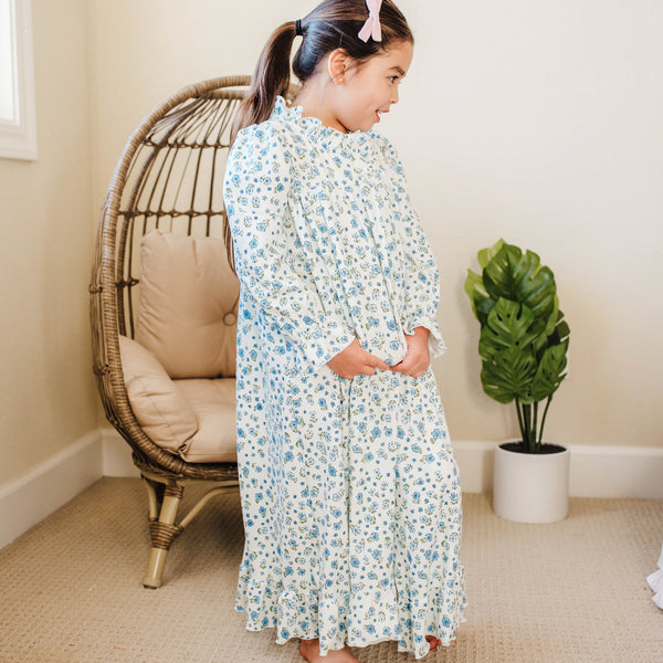 Sweet Ruffled Robe - Baby Blue