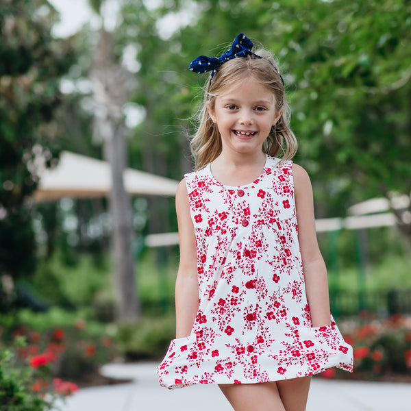 Out to Play Set - Red Floral