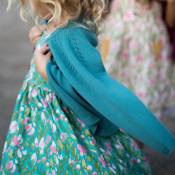 SweetHoney - Cardigan - Terrific Teal - Final Sale