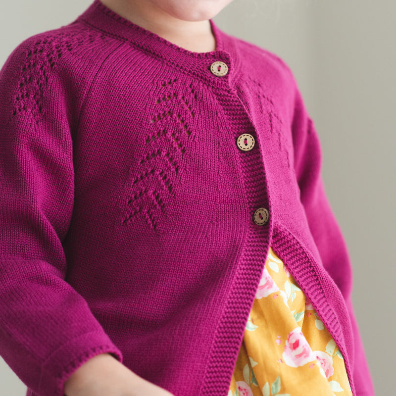 SweetHoney - Cardigan - Perfect Plum - Final Sale