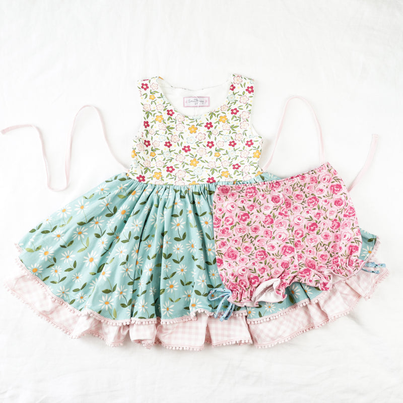 Belle Knit Set - Bitty Flowers