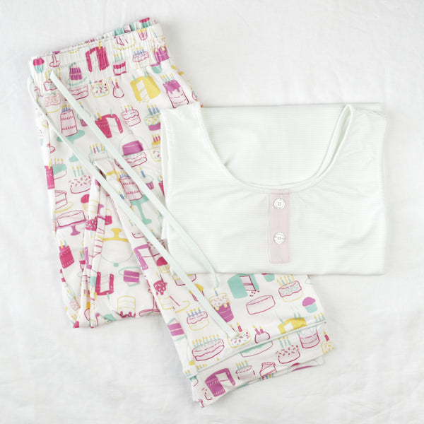 Women's Cozy PJ - Happy Birthday