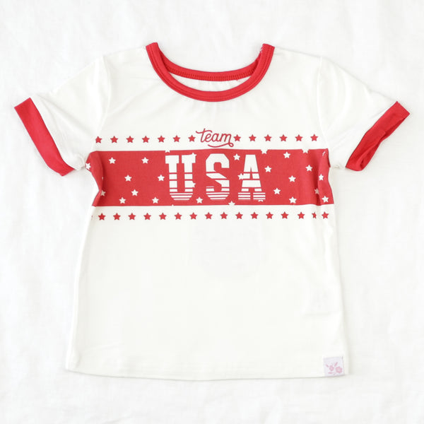 Graphic Tee - USA Red