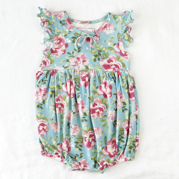 Jill Bubble - Swirly Floral Aqua