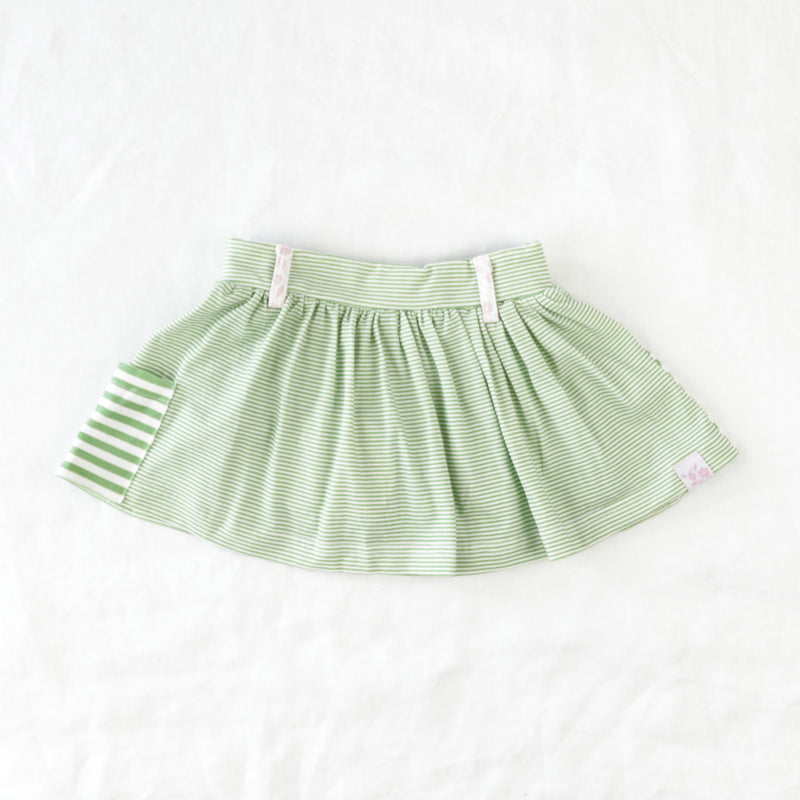 Garden Skort - Green Stripes