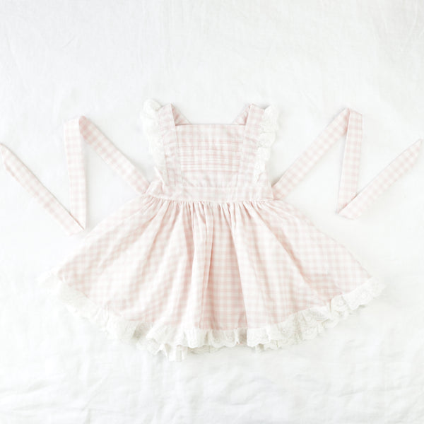 Pinafore Dress - Bubblegum Pink Gingham