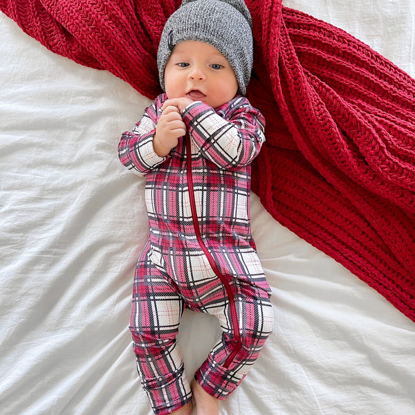 Dreamer Layette - Simply Red Plaid