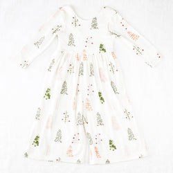 Leggy Sleeved Romper - Whimsy Trees
