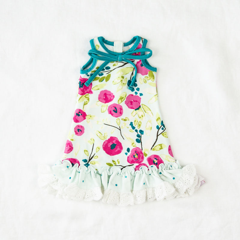 Doll Gown - Spring Teal Dawn