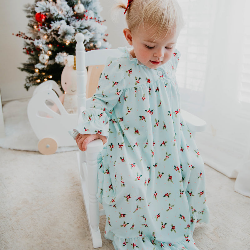 Sweet Ruffled Robe - Blue Holly