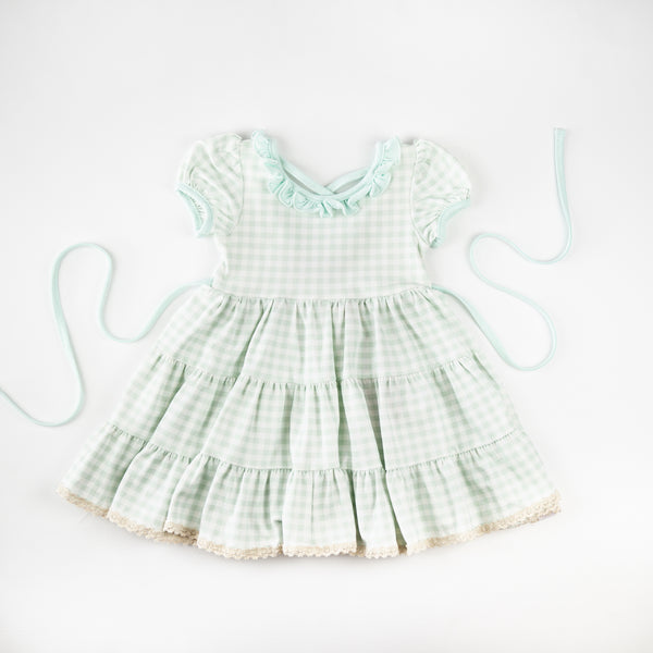 Flair Dress - Mint Gingham