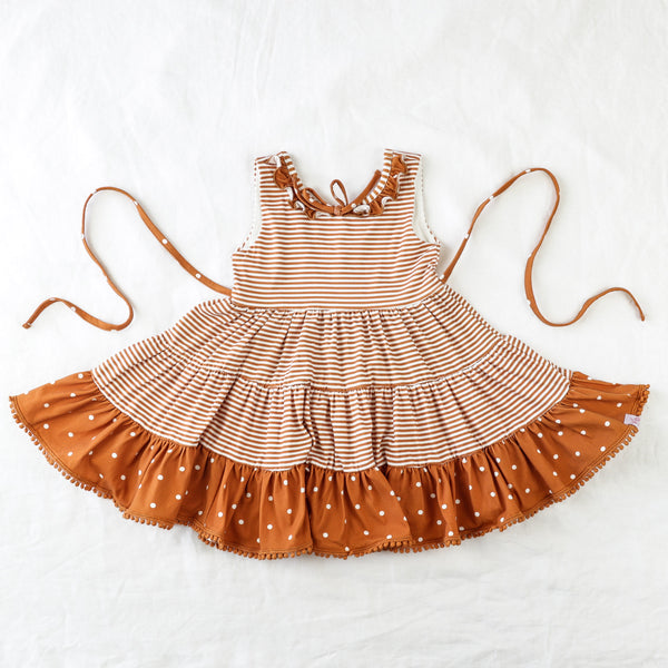 Flair Dress - Burnt Orange