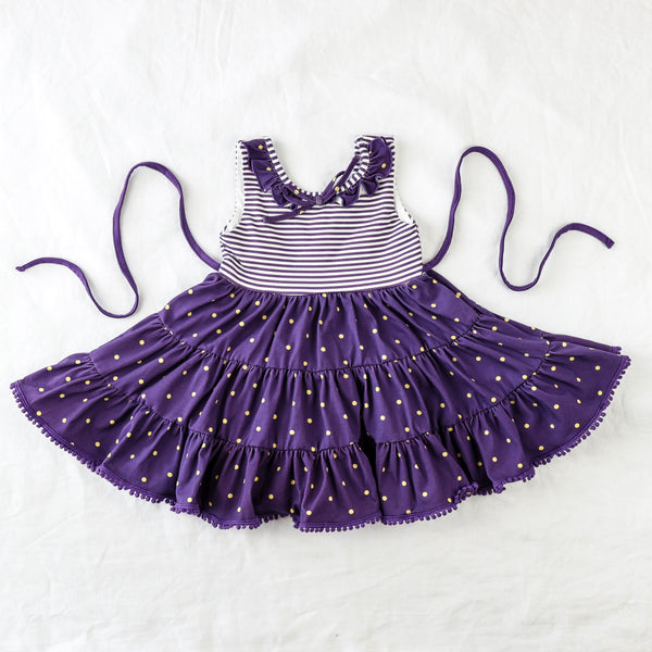 Flair Dress - Purple
