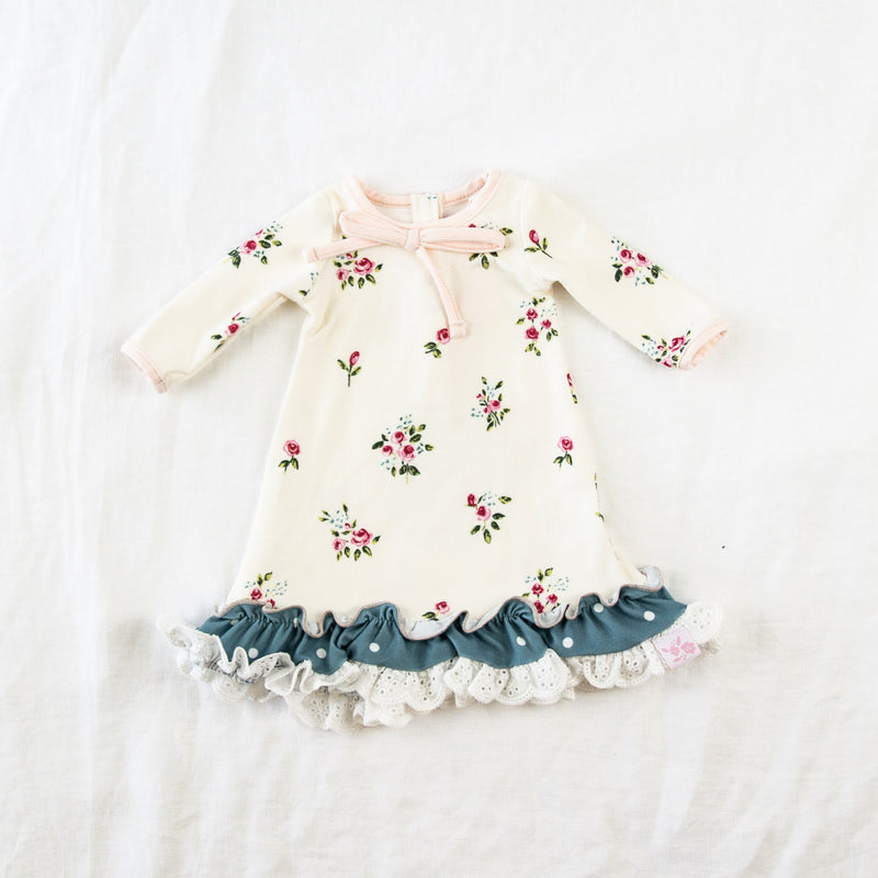 Doll Gown - Rose Bunches
