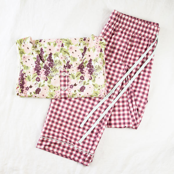 Women's Cozy PJ - Plum Floral