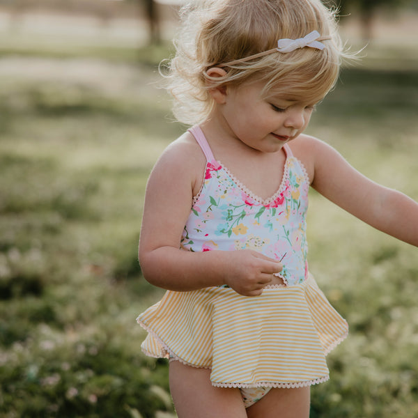 Morgan Skirted One Piece - Flower Girl