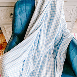 Dreamer Blanket - Blue Check
