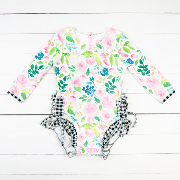 Solid Rash Guard - Fresh Blooms