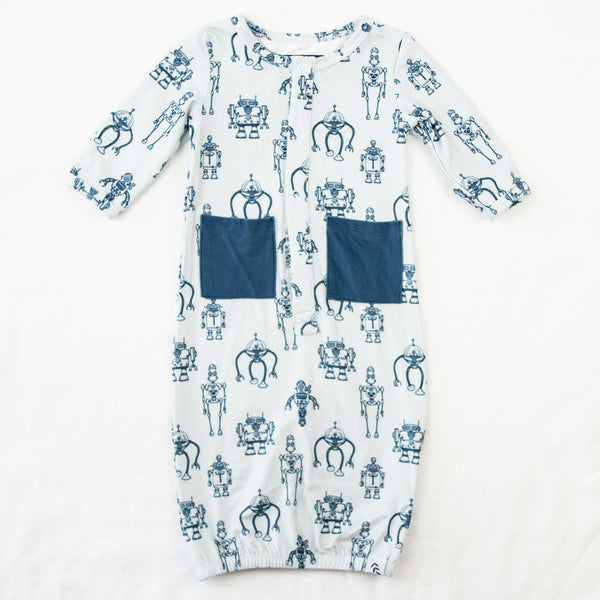 Dreamer Infant Gown - Robots