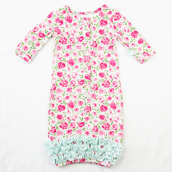 Dreamer Infant Gown - Covered in Roses