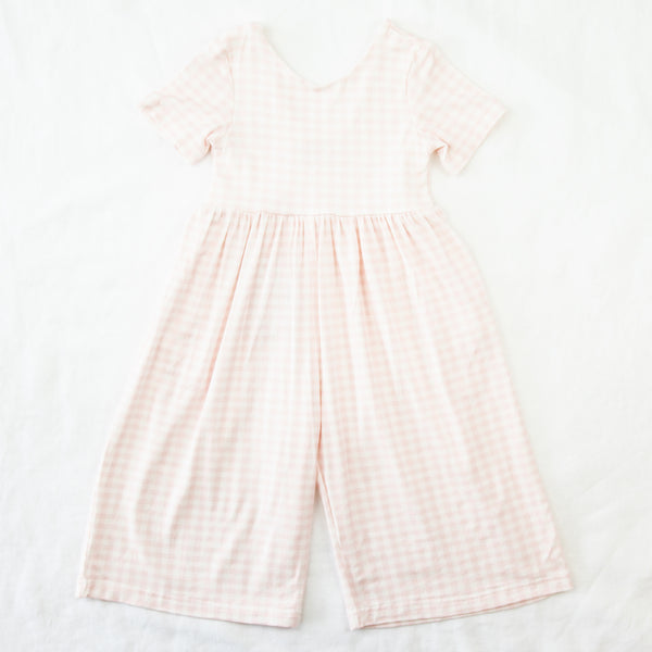 Leggy Sleeved Romper - Bubblegum Pink Gingham