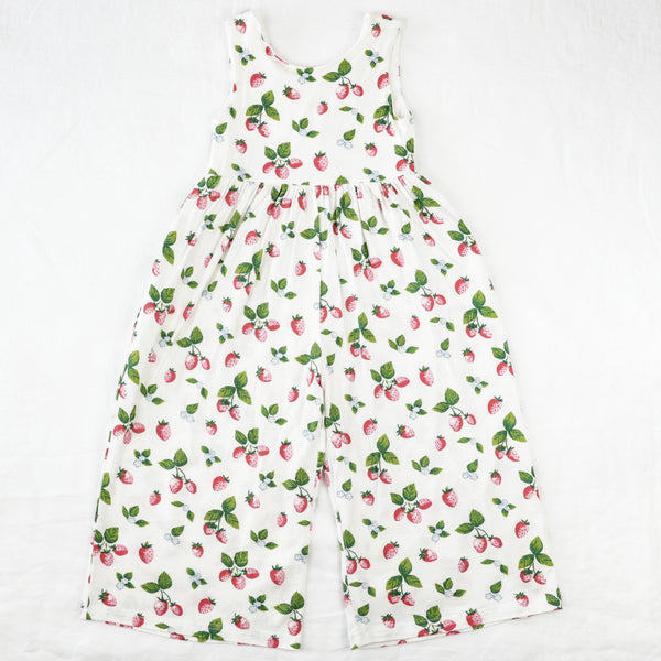 Leggy Sleeveless Romper - Sweet Strawberry