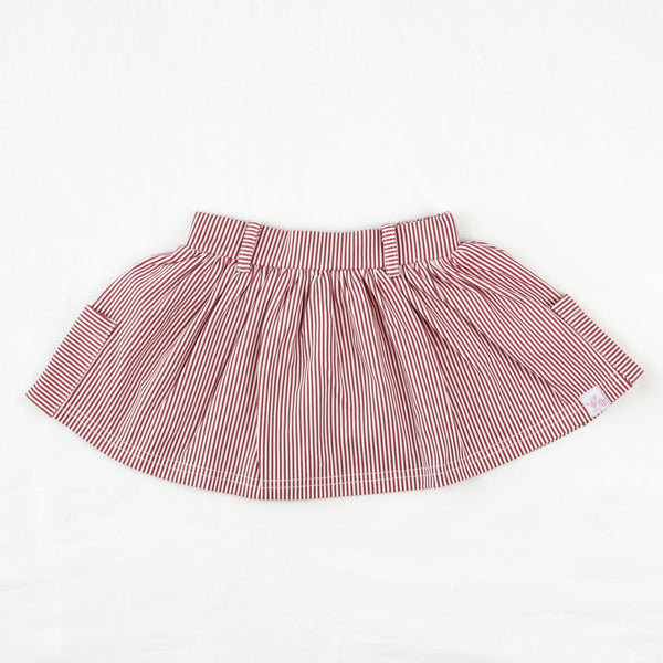 Garden Skirt - Tiny Red Stripe