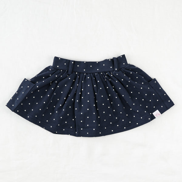 Garden Skirt - Navy Dot