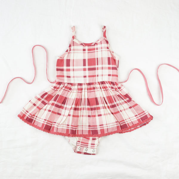 Belle Bubble - Red Plaid