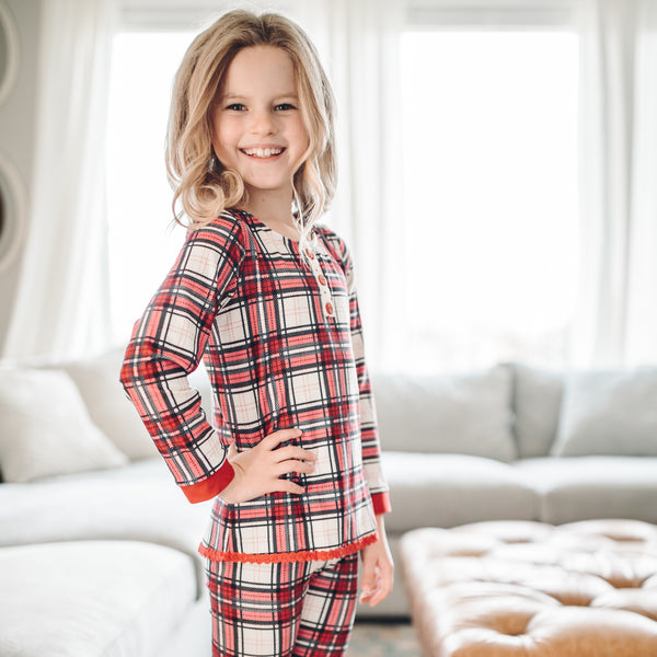 Dreamer 2 Piece - Girl's Red Plaid