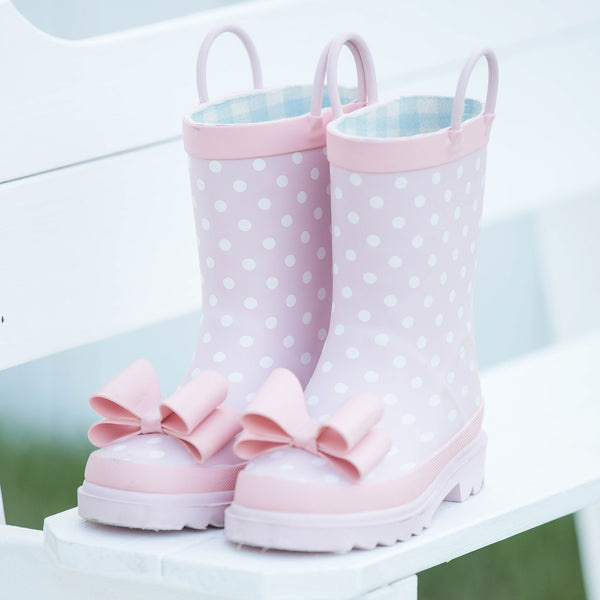 Cheery Rain Boot - Pretty Pink Dot