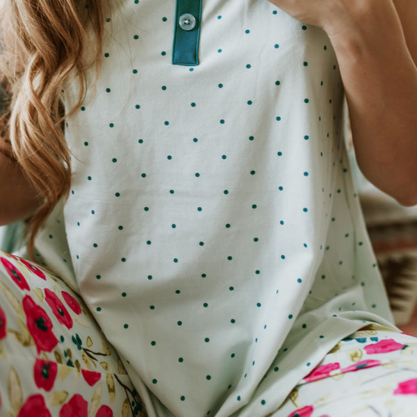 Women's Cozy PJ - Spring Teal Dawn